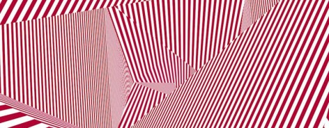 Graphic with red and white stripes