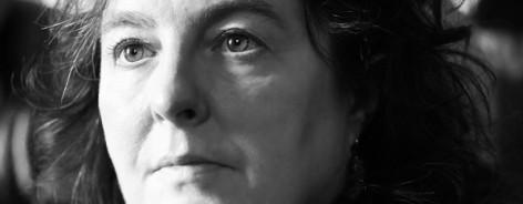 Black and white headshot of Carol Ann Duffy