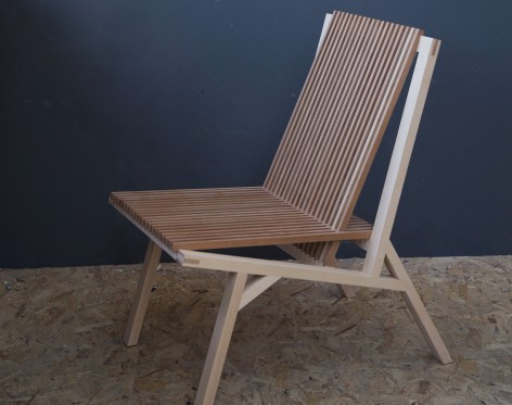 A slatted chair designed by Studio LW