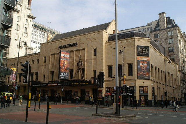 Photo of the frontage of The Palace Theatre