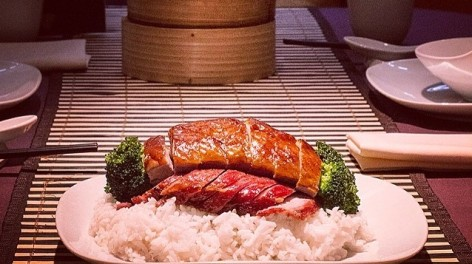 Meat on a bed of rice