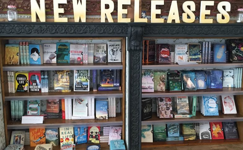 Photo of a new releases bookshelf