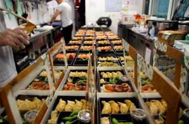 Boxes of sushi