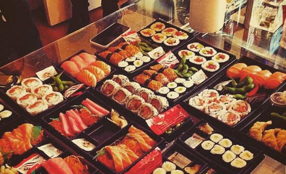 Photo of boxes of sushi at Nudo Sushi Box.