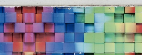 Coloured wall squares