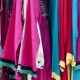 Colourful hanging fabrics