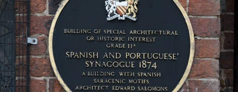 The heritage plaque on the front of the Jewish Museum
