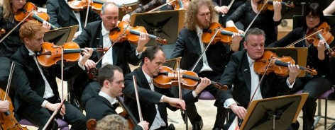 Musicians in the Halle Orchestra