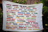 Banner with famous women in music