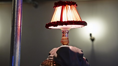Photo of a dog lampshade in Friends of Ham.