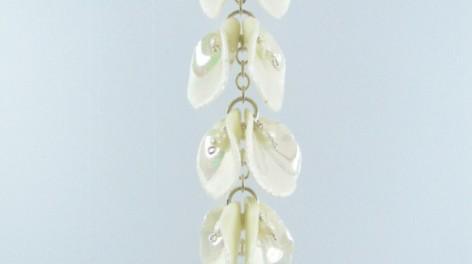Porcelain petal pendant
