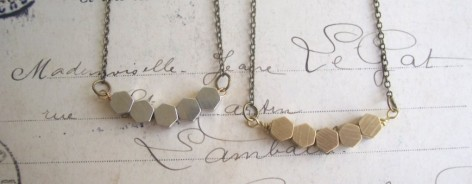 Necklace of small gold circles