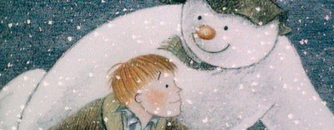 Still from iconic film The Snowman