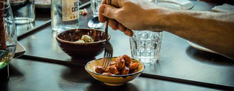 A bowl of chorizo