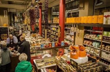 The inside of a Spanish and Catalan deli
