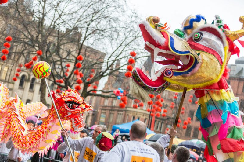 Chinese dragons, Manchester