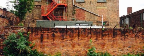 The back of Hope Mill theatre, facing the canal