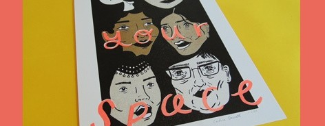 Poster with women's faces, saying Seize Your Space