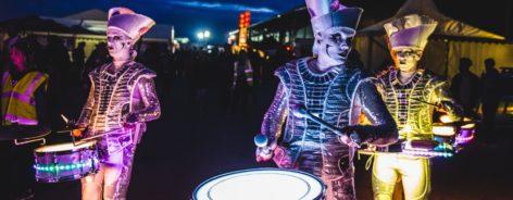 Luminous drummers