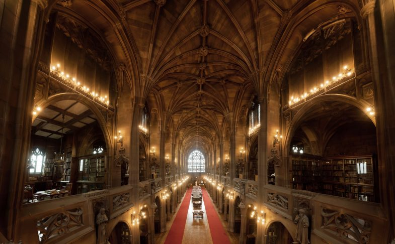 The historic Reading Room in John Rylands Library
