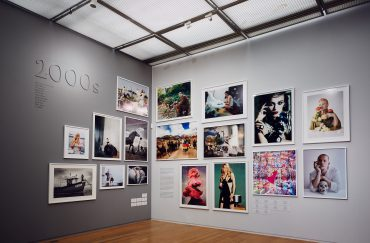 Installation view of Vogue 100