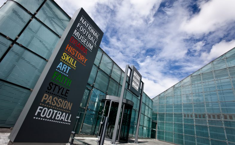 National Football Museum, Urbis Building in Cathedral Gardens, Manchester