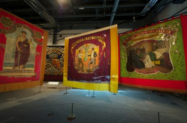 Political banners in the People's History Museum