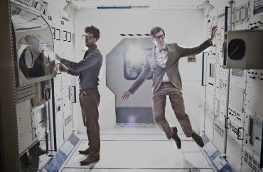 Members of Public Service Broadcasting in space