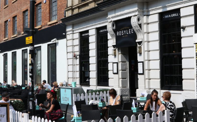 Rosylee Tea rooms on Stevenson Square in Manchester's Northern Quarter