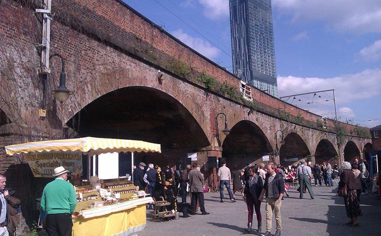 Castlefield Artisan Market in Castlefield Manchester