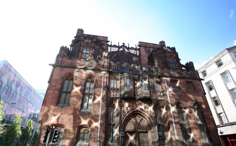 Exterior shot of John Rylands Library, venue for magic bowls event