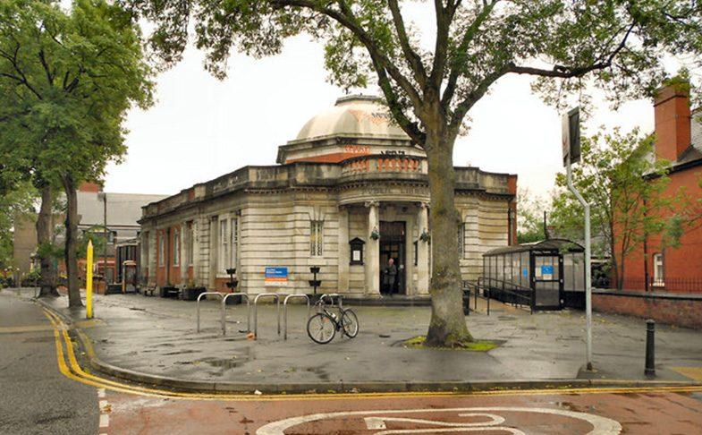 Chorlton Library on Manchester road in Chorlton