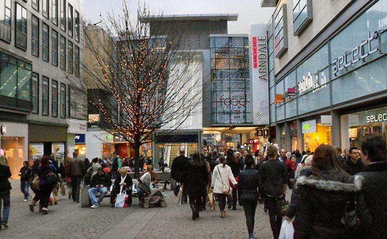 Market street in Manchester