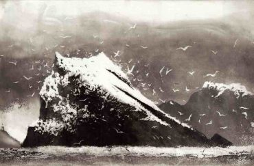 The Rumblings Muckle Flugga Shetland, 2013, © Norman Ackroyd. Yorkshire Sculpture Park (YSP)
