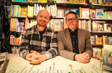 Artist Dan Berry and writer David Gaffney.