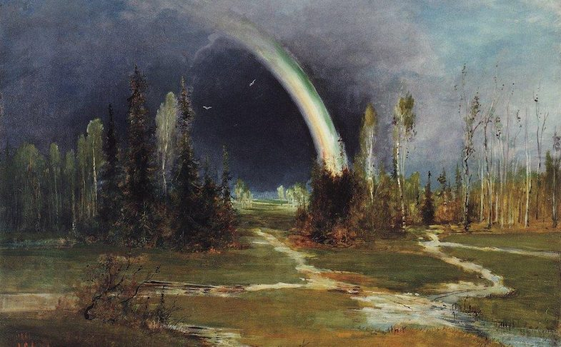 Alexey Savrasov, Landscape with a Rainbow, 1881