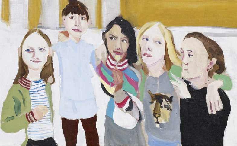 Poppy, Esme, Oleanna, Gracie and Kate, 2014. Personal Feeling is the main thing - Chantal Joffe at The Lowry, Salford