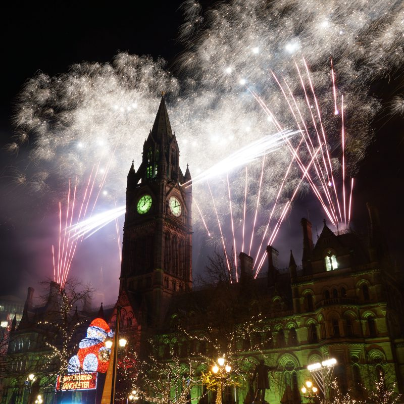 Manchester: New Year's Eve Fireworks at Albert Square
