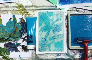 Introduction to Gel Plate Printing with Natural Form / Half Day Workshop