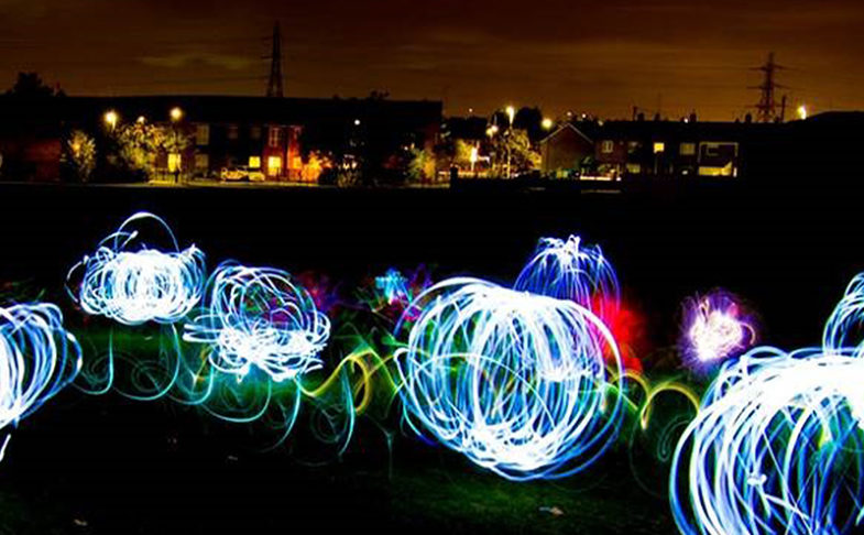 PAINT WITH LIGHT ON A DARK NIGHT at The Piece Hall