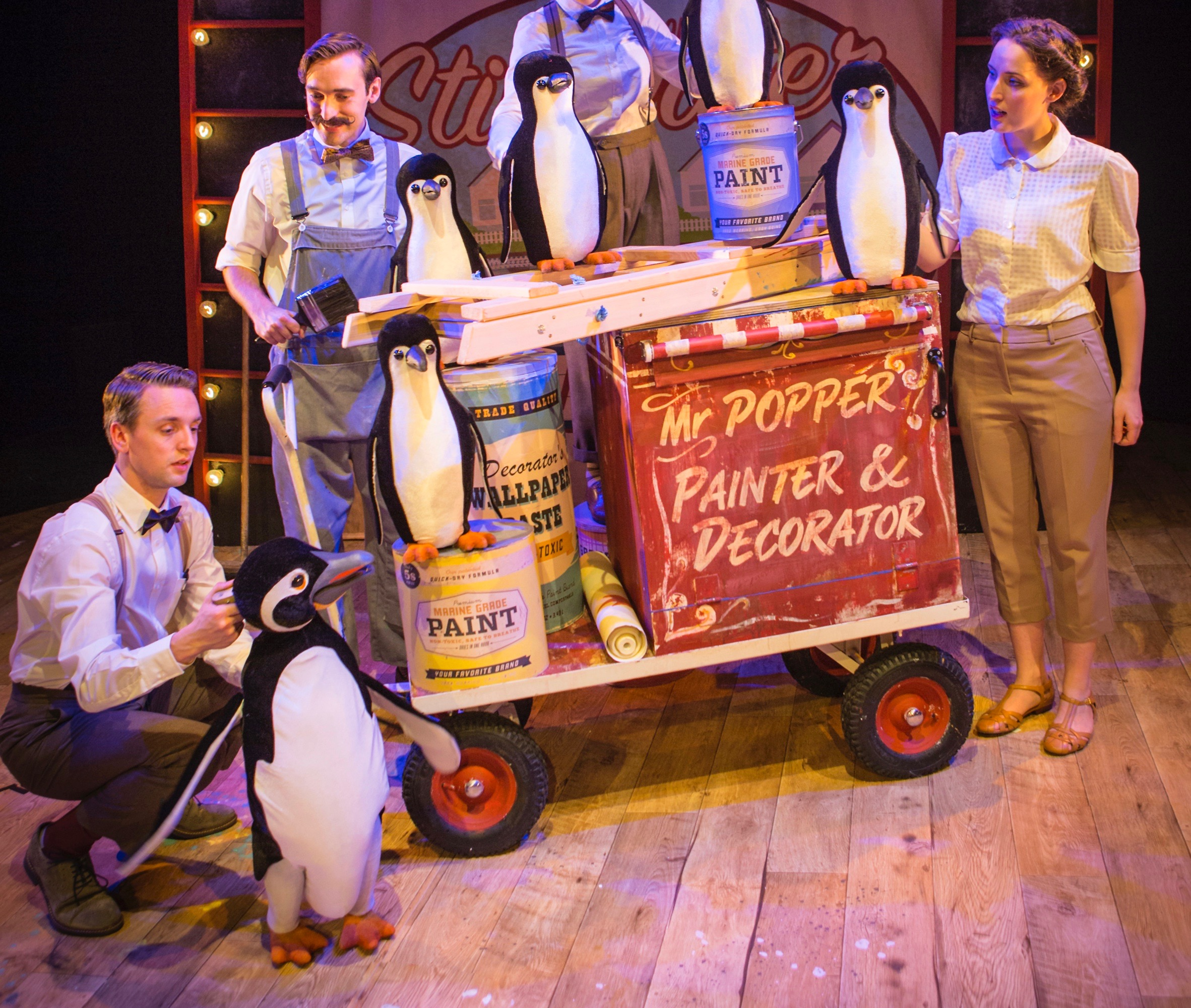 Cast members in Mr Popper's Penguins