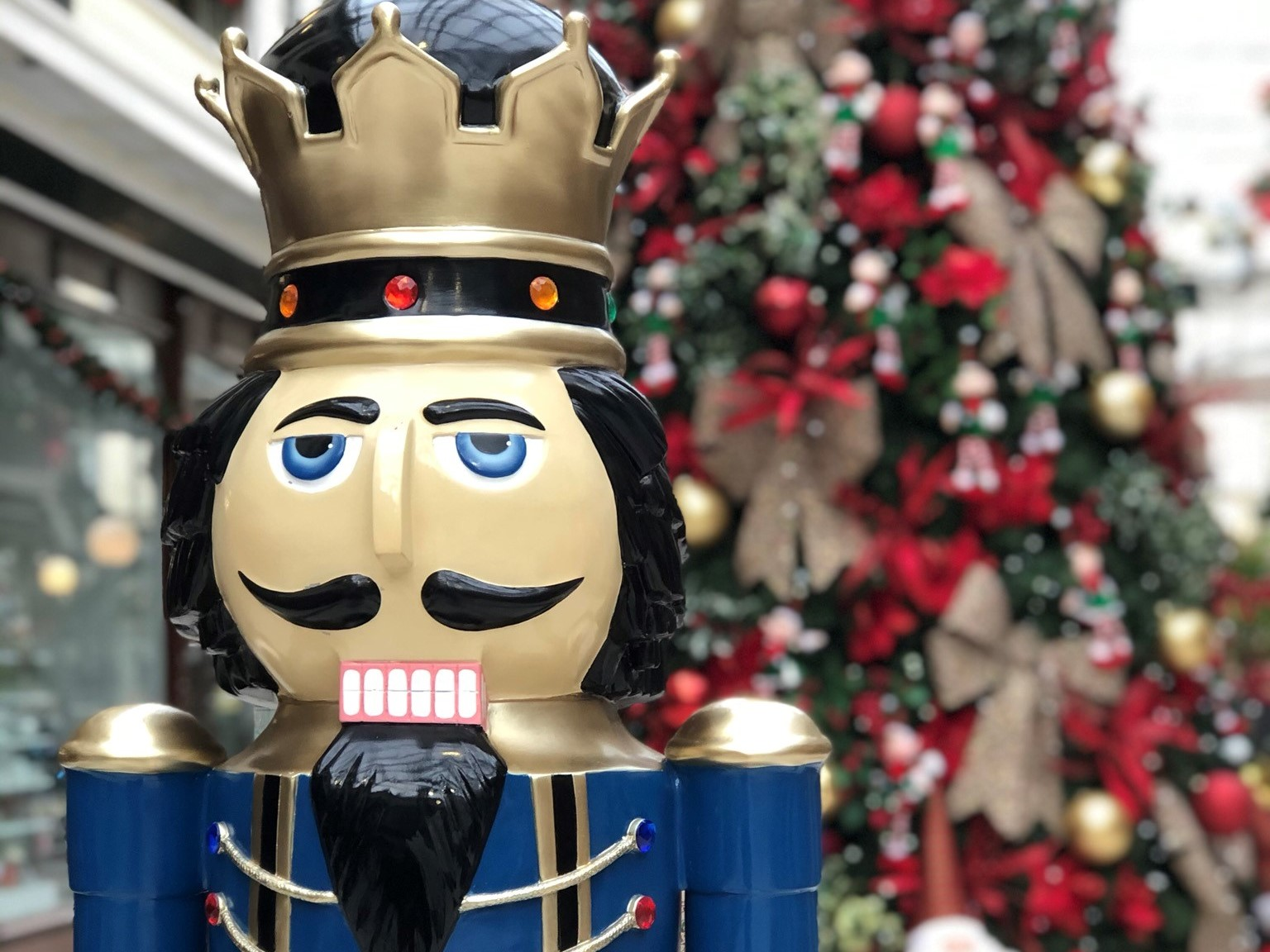 Nutcracker figure, part of Christmas in Southport