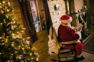 Santa sat on a chair at Christmas at Chill Factore
