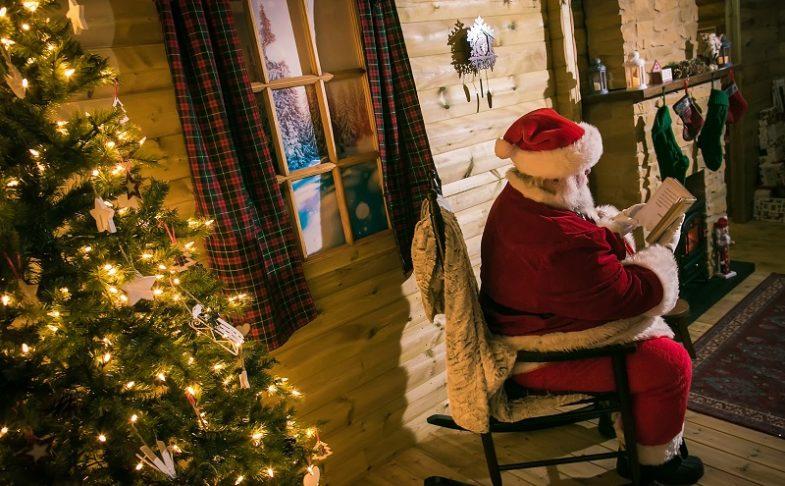Santa sat on a chair at Christmas at Chill Factore