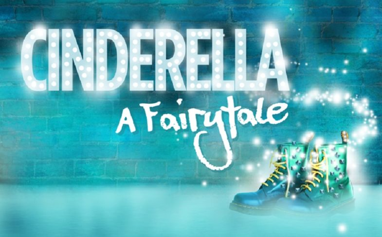 Sparkly letters reading Cinderella A fairytale and some Doc Marten boots
