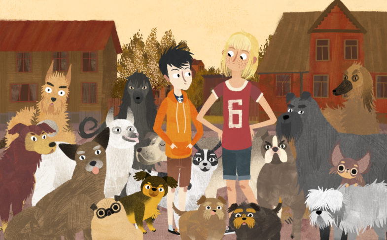 Scene fromJacob, Mimmi and The Talking Dogs as part of Manchester Animation Festival