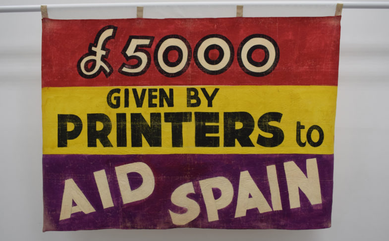 2020 Banner Display at People's History Museum, Manchester