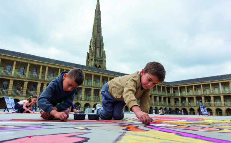 Snakes and Ladders at The Piece Hall in Halifax