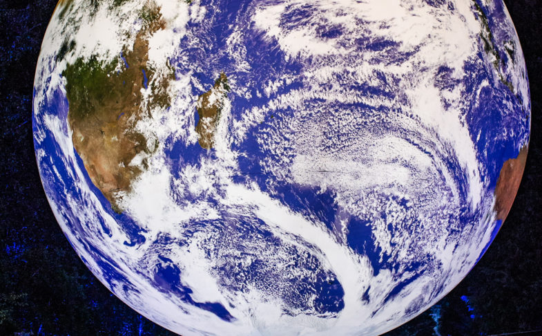 A picture of the planet earth from space - promoting Microdot