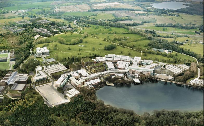 Aerial view of Alderley Park
